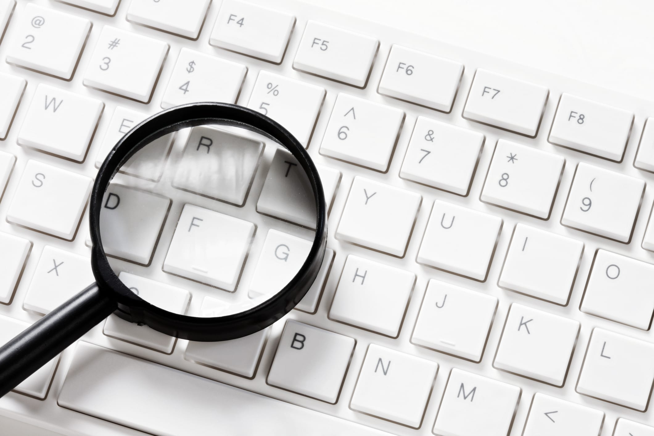 pc monitoring magnifying glass
